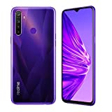realme 5 Smartphone Móvil, 4 GB RAM 128 GB ROM 6.5' Snapdragon 665 AIE 12MP AI Quad Camera, European Version (Púrpura)