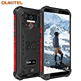 OUKITEL WP5 IP68 Móvil Libre Resistente,Telefonos Robusto Android 9.0 4G Impermeable Smartphone, 8000mAh Batería Rugged Móvil,4+32GB,5.5'' HD+ (Gorilla Glass),Triple Cámara,4 LED Flash (Negro)