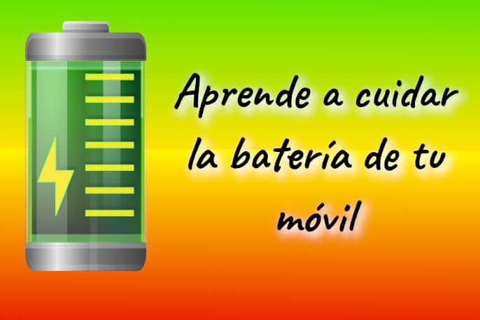 como cuidar la batería de tu móvil