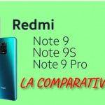 Diferencias Redmi Note 9, 9s y 9 Pro. Comparativa completa.
