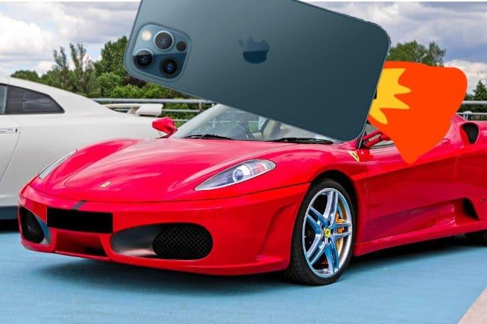 iphone 12 pro y ferrari